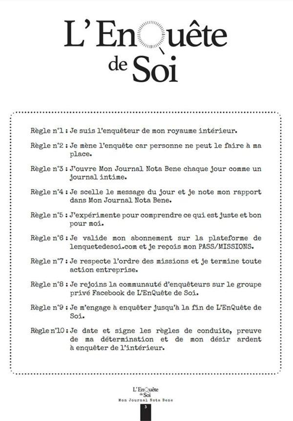 EnQuête de soi Journal Nota Bene page 2